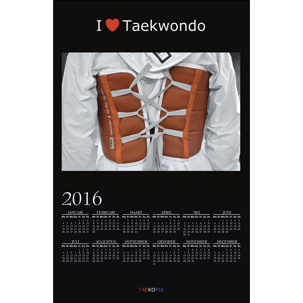 Taekwondo Year Calendar 2016 - I love Taekwondo option 001