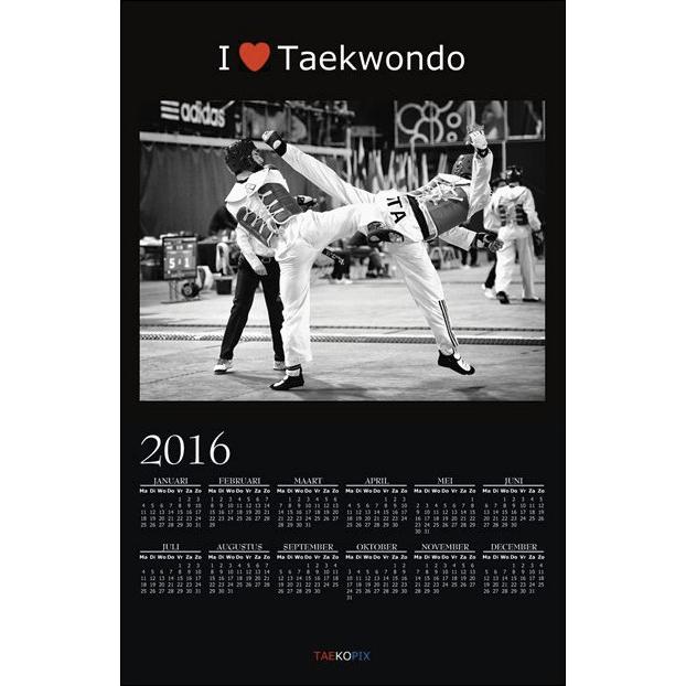 Taekwondo Year Calendar 2016 - I love Taekwondo option 002
