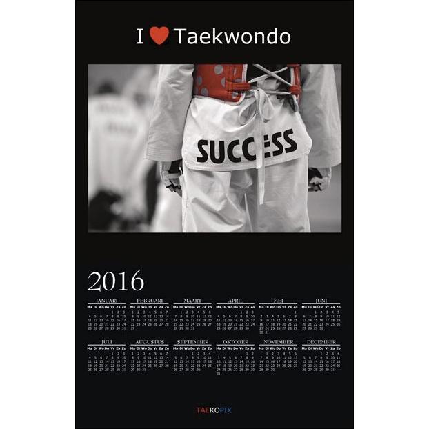 Taekwondo Year Calendar 2016 - I love Taekwondo option 003
